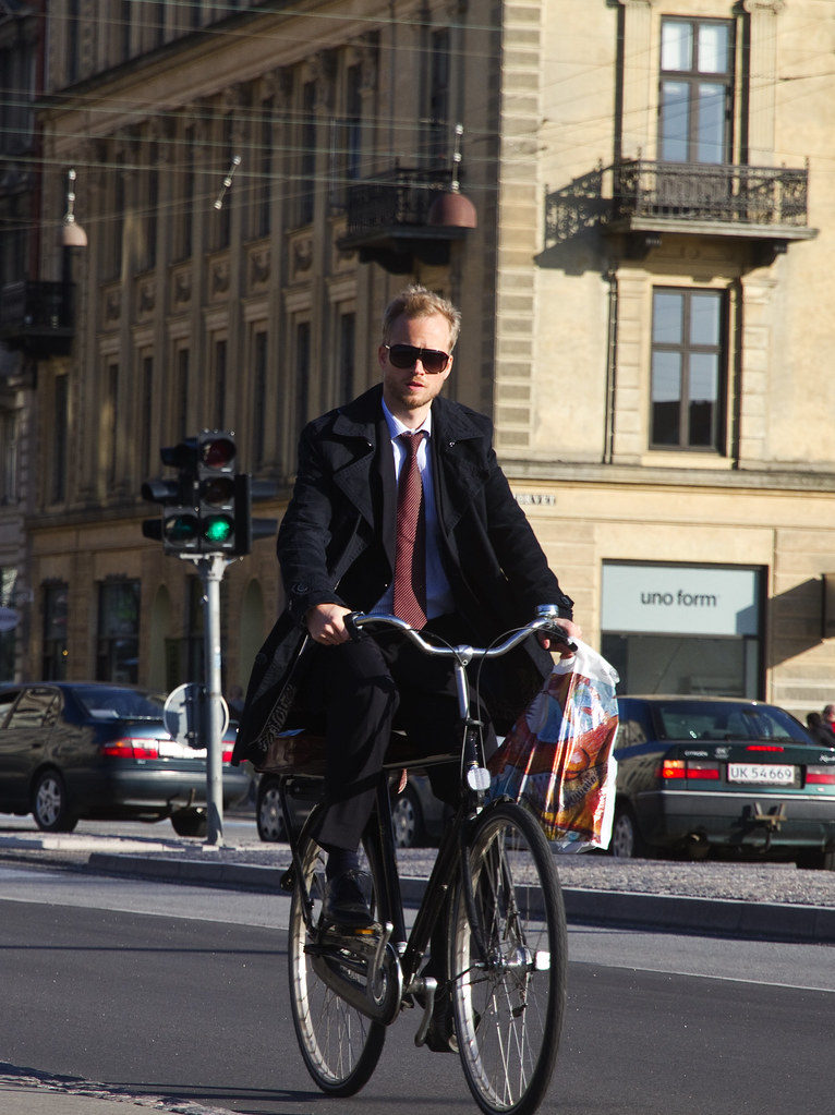 Businessmen on Bicycle