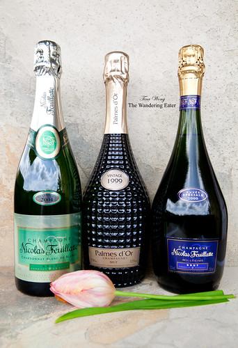 Nicolas Feuillatte's Blanc de Blanc 2004, Palmes d'Or 1999, and Millésimé Brut Speciale 2000