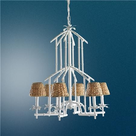 bamboo tower chandelier shades of light