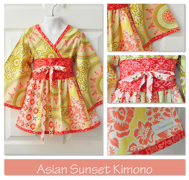 sunset kimono collage post
