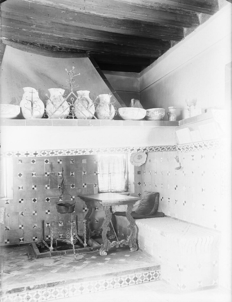 Cocina del Museo del Greco en los años 20. Detalle de una Fotografía de Otto Wünderlich. © Fototeca del Patrimonio Histórico
