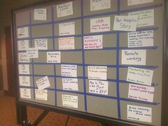 Kickin #unconference grid at @NCtech4good #unconference. #nct4g