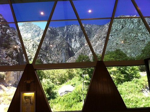 view from the waiting area (Palm Springs aerial tramway)