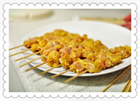 Homemade Malaysian-Style Chicken Satay Skewers