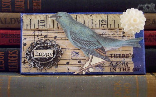 Blue Bird Collage Magnet