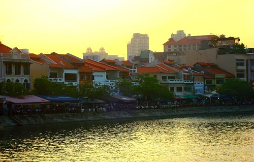 sunset sun singapore 日落 boatquay clarkequay singaporeriver 晚霞 夕阳 linkway88