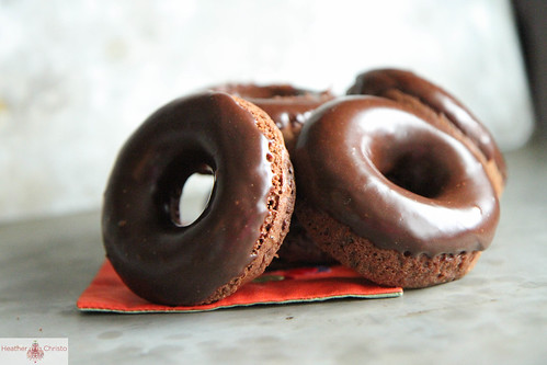 Chocolate and Fresh Mint Donuts