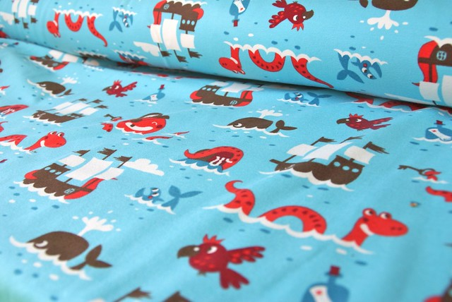 Pirate organic jersey fabric