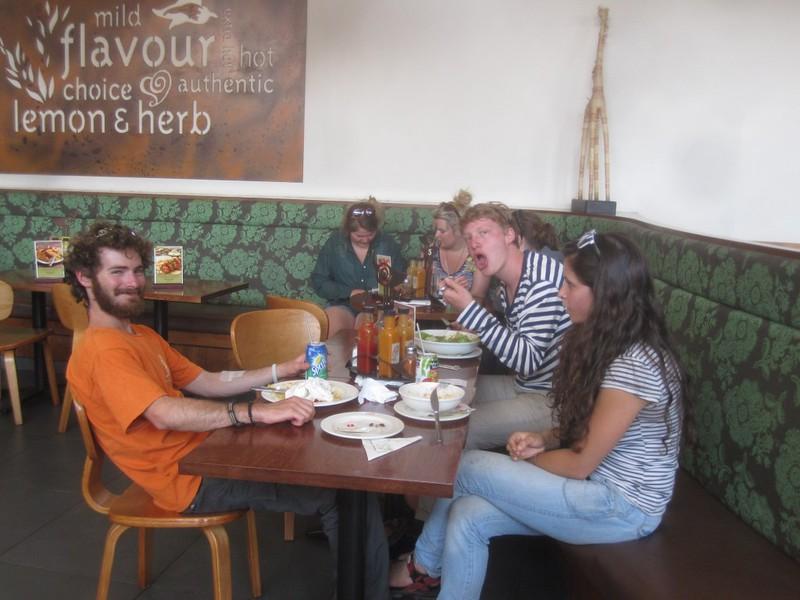 Lunch Nando's Zimbabwe Africa