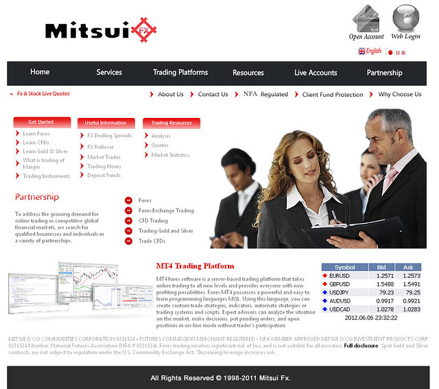 Mitsui FX Website Before
