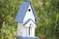 birdhouse, blue,