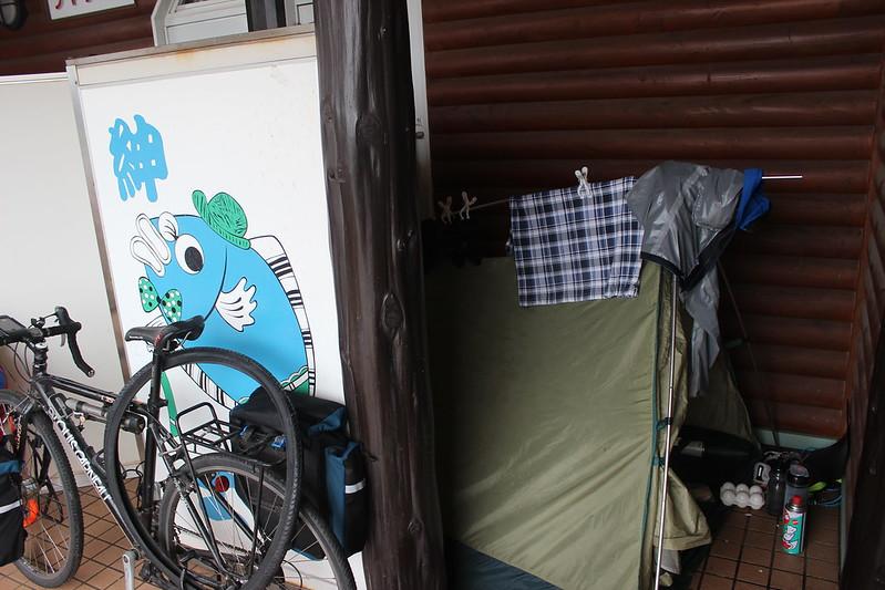 道の駅てっくいランド大成でテント