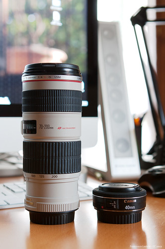 Canon 70-200mm ƒ4 vs 40mm ƒ2.8
