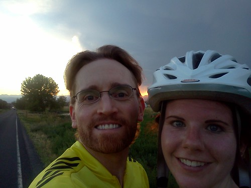 A nice evening road ride out to Erie with Andrea