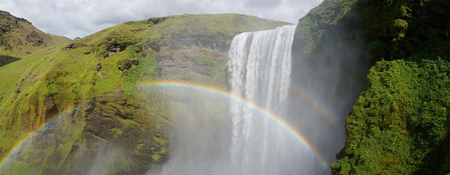 Double Rainbow on Skógafoss