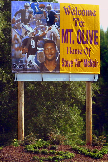 Mt. Olive, Home of Steve McNair