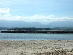 L'étang d'Urbinu à l'embouchure : difficilement traversable sans natation