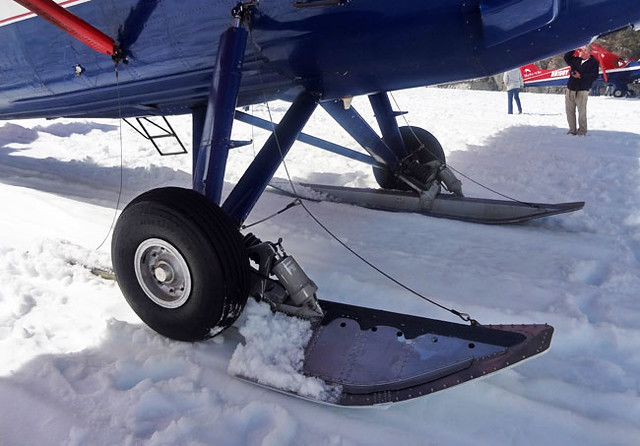 Plane snow wheels