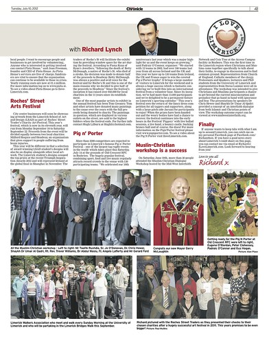 I Love Limerick Chronicle Column 10 July 2012 Page 2