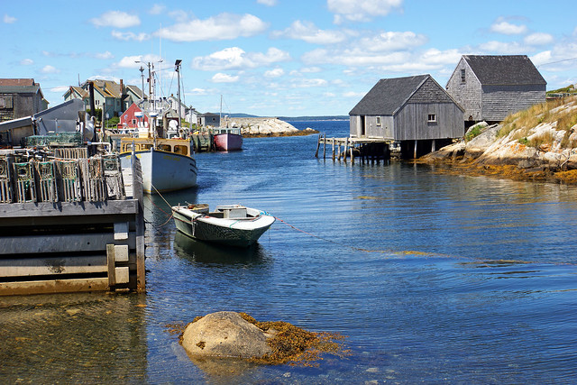 Peggy's Cove wharf by CC user archer10 on Flickr