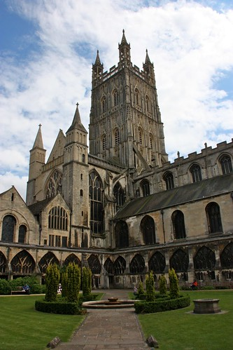 Gloucester Cathedral from the Garth