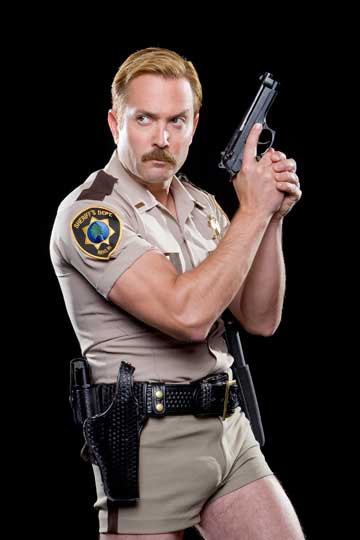 tomDangle reno 911 short shorts