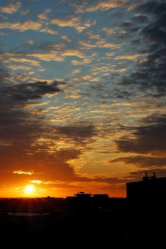 sky sun colour sunrise rays