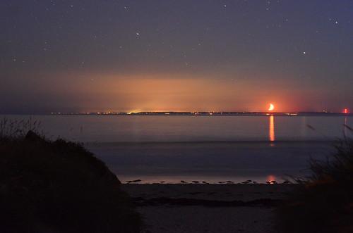 sea night dunes jersey moonset longexposures 50mmseriese d7000