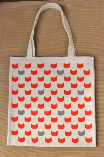 Ginger cats grey tote bag