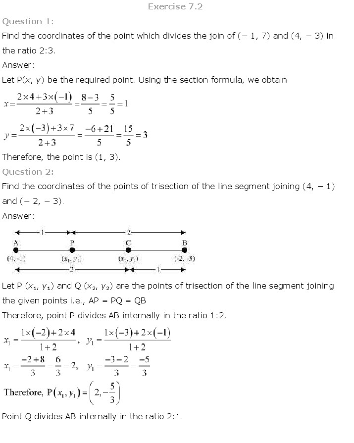 NCERT Solutions For Class 10 Maths Chapter 7 Coordinate Geometry PDF Download 2018-19 freehomedelivery.net