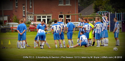 Cliffe FC 2 - 2 Amotherby & Swinton (pre-season) 31Jul12