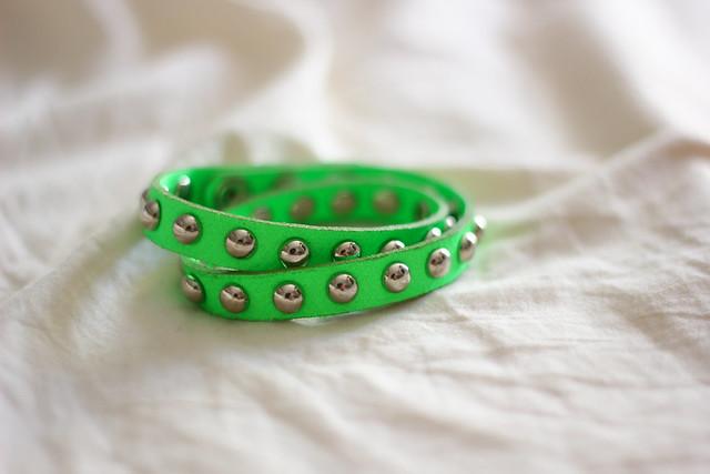 neon studded bracelet