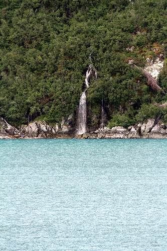 Passing Waterfall Before Glacier Bay