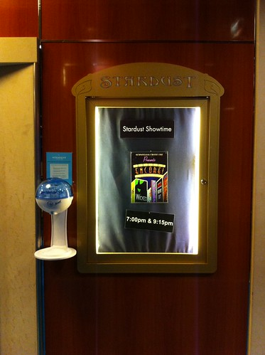 Norwegian Pearl - Sanitizer and Show Ad