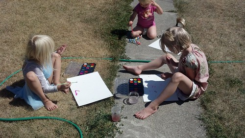 homeschooling on a dead lawn