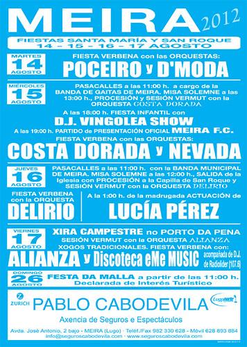 Meira 2012 - Festas patronais - cartel