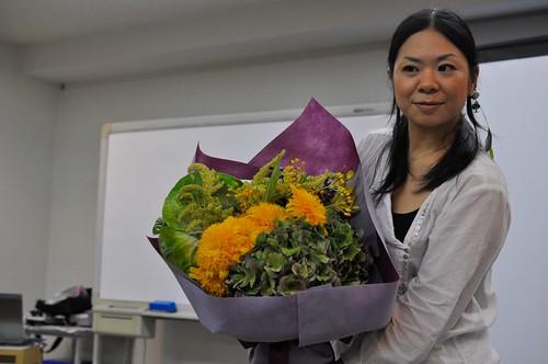 日比谷花壇 シニアデザイナー 来本曜世 フラワーブーケ