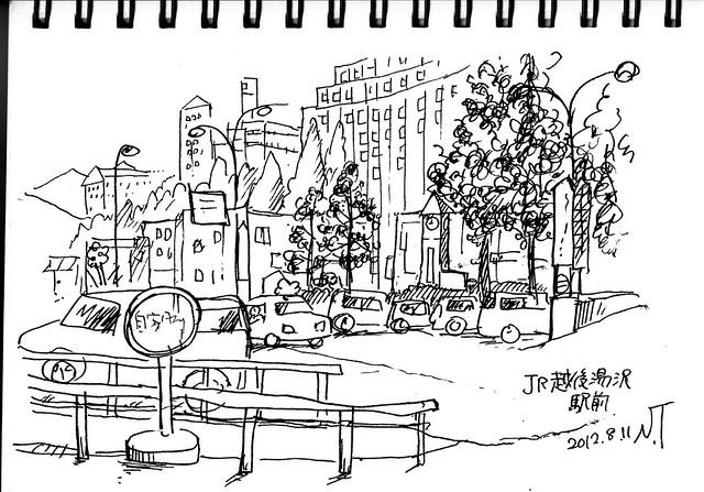 JR越後湯沢駅前 2