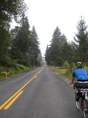 Approaching the Harding Road ramp and a mass of low-lying clouds