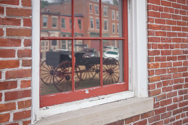 Reflection of Buggy in Window, Galena Illinois