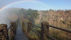Video: Rainbow over Victoria Falls