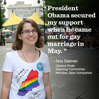 Jess Steever, NH Obama Pride Steering Committee Member
