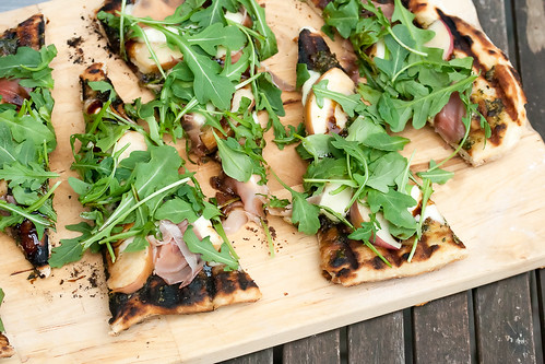 Grilled Peach Bocconcini Pizza