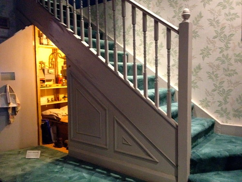 The cupboard under the stairs, Harry Potter's bedroom in the first film