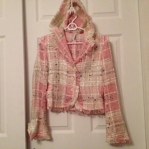 IISLI sheer hooded blazer from tag sale in Woodbury