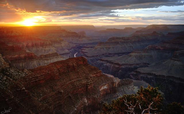 Hopi Point, South Rim, Grand Canyon, west sunset