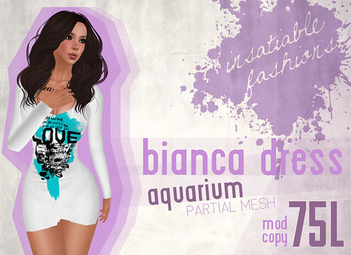 [IF] Lazy Sunday Item: Bianca Dress - [Aquarium] Ad