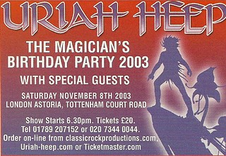 11/08/03 Uriah Heep @ London Astoria, London, England