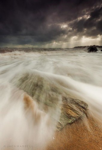 ocean longexposure sea sky sun seascape storm beach rock clouds waves connecticut hurricane wideangle rays rough lightrays jackwassell