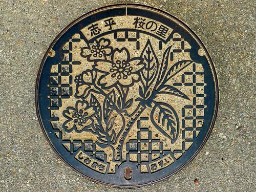 Shio Ishikawa, manhole cover (石川県志雄町のマンホール)
